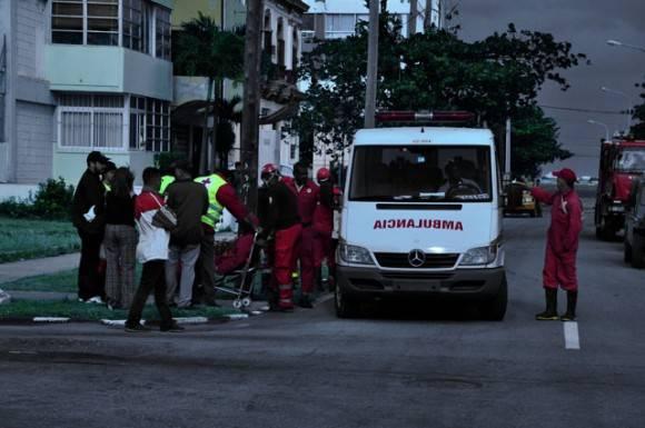 Miembros de la Cruz Roja. Foto. Roberto Garaicoa Martínez.cubadebate