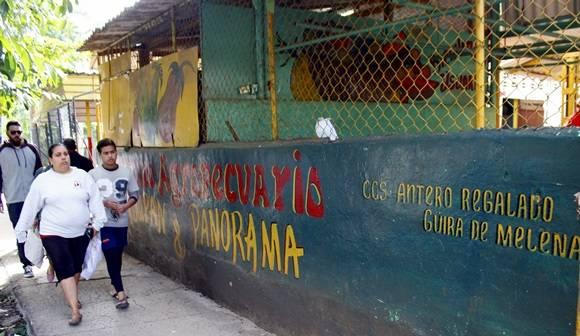 Agromercado en Tulipán y Panorama administrado por la CCS Antero Regalado de Güira de Melena.