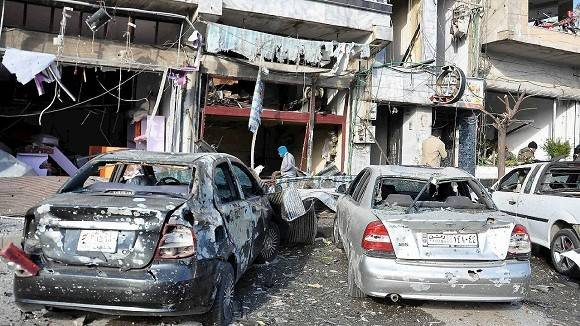 Un miembro de la autoridad local señaló que la mayoría de los muertos son policías. Foto: SANA.