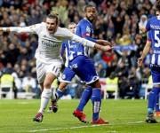Bale demostró no estar triste por la marcha de Benítez, fue el MVP del partido.