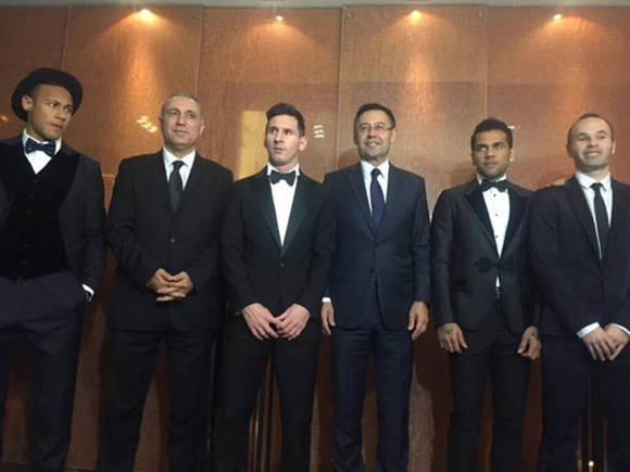 La representación del Barça en la Gala de Suiza. Foto: @marca.