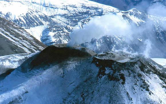 Volcán Chillán pone en alerta amarilla a Chile. Foto tomada de Información Chile.