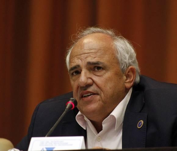 Ernesto Samper, secretario general de UNASUR, durante la II Conferencia Internacional Jose Marti en el Palacio de las Convenciones, Cuba. Foto: José Raúl Concepción/Cubadebate.