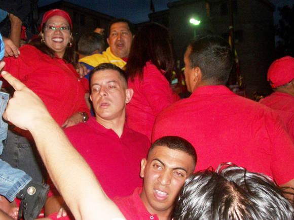 Cuando más cerca estuve de Chávez. Foto: Arnaldo Rodríguez.