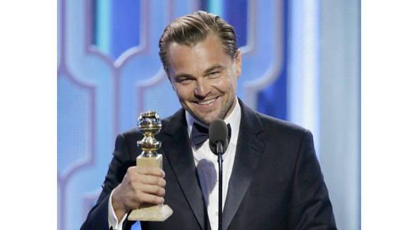 Leonardo DiCaprio ganó su tercer Globo de Oro. Foto: Getty Images.