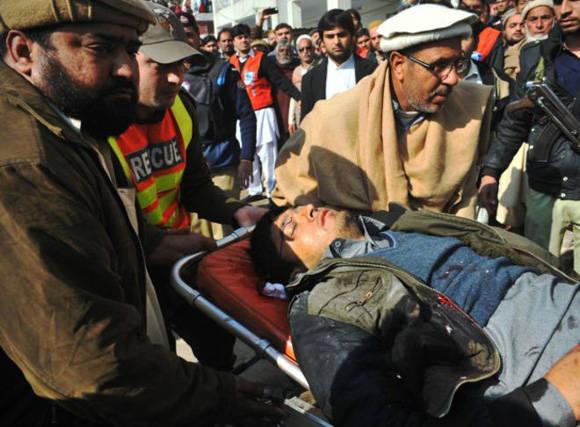 El ataque ha dejado al menos 25 personas muertas y 50 heridos, la mayoría de ellos estudiantes y personal de la universidad. Foto: Getty.