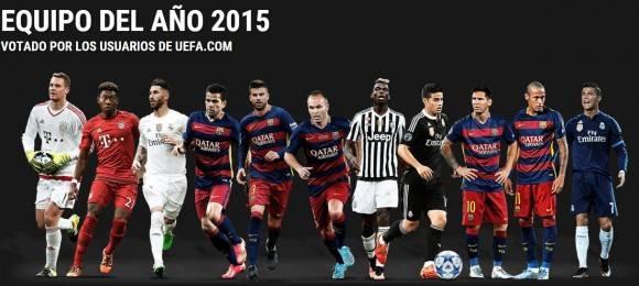 Equipo del año de la UEFA 2015