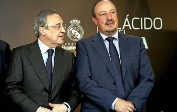 Florentino Pérez y Rafa Benítez