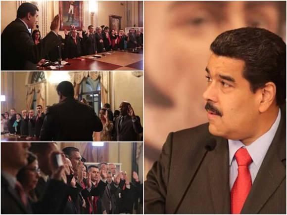 Maduro anunció el cambio en la vicepresidencia y la creación de cinco ministerios. Foto: @candangaNoticias.