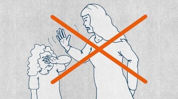 Guía para refugiados: no pegue a los niños.