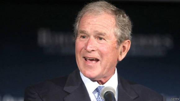 La entrada sobre el criticado George W. Bush fue editada 45.862 veces desde su creación. Foto: Getty.