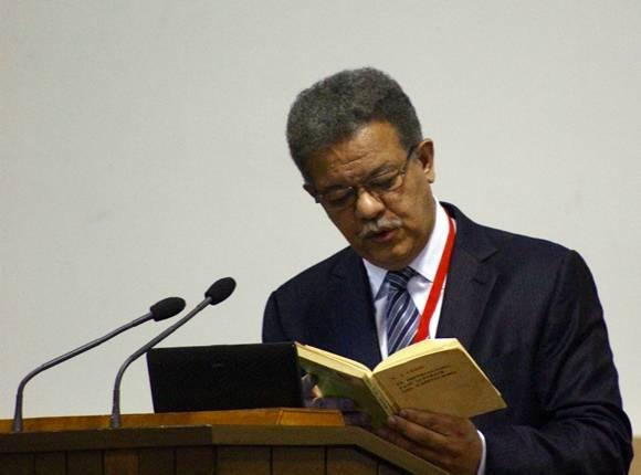 Leonel Fernández citó a Lenin y a Fidel durante su conferencia. Foto: José Raúl Concepción/Cubadebate.
