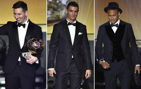 Los tres finalistas. Fotos. FIFA.