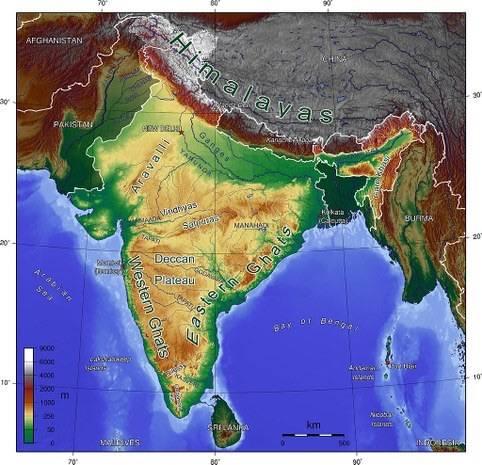 Mapa de India y Myanmar. Foto tomada de Wikipedia