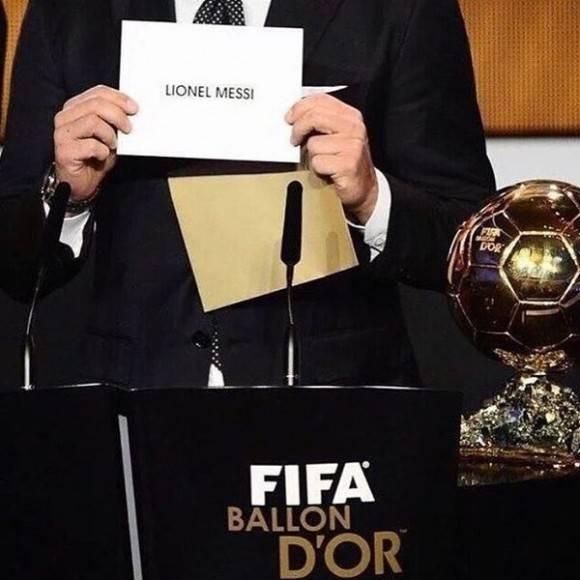 Y el Balón de Oro es... para el que todos esperaban.