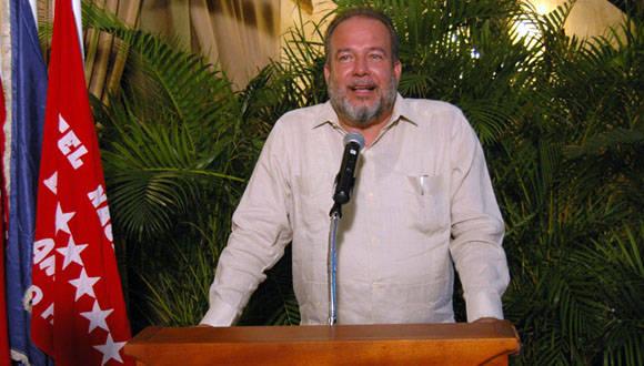 Manuel Marrero, Ministro de la Industria Turistica de Cuba, será el líder de la delegación en Fitur-2016. Foto: César Rodríguez.
