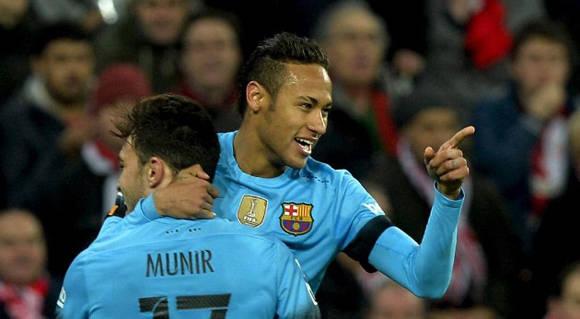 Neymar festeja su gol. Foto tomada de Marca.