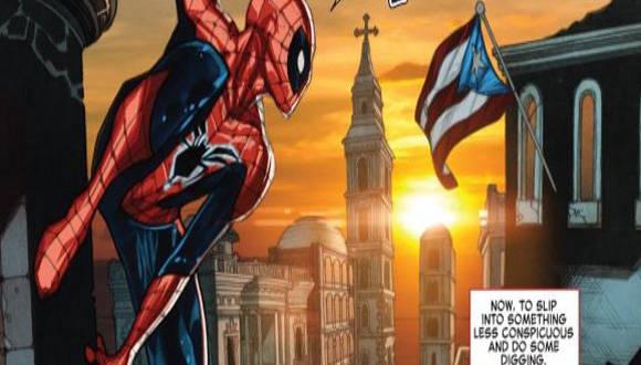 Spiderman bandera cubana confundida con la de Puerto Rico - copia