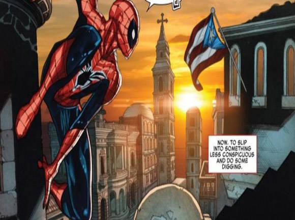 La empresa Marvel confunde la bandera cubana con la puertorriqueña en un comic de Spiderman.