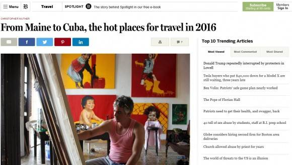The Boston Globe sobre Cienfuegos.