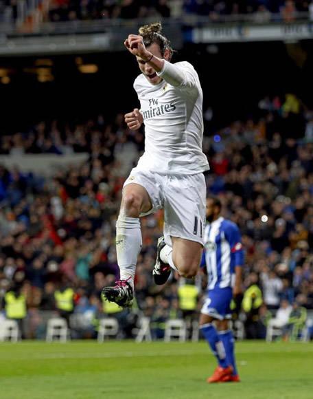Bale marcó dos tantos de cabeza y otro con la zurda a pase de CR7. Foto: Ángel Rivero.