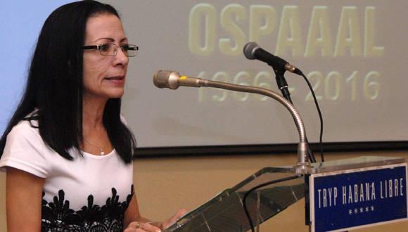 La OSPAAAL enfrenta hoy nuevos desafíos, aseguró Lourdes Cervantes, Secretaria General de la OSPAAL.