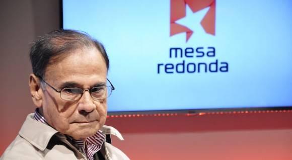 Alí Rodríguez Araque en la Mesa Redonda. Foto: Roberto Garaicoa/ Cubadebate