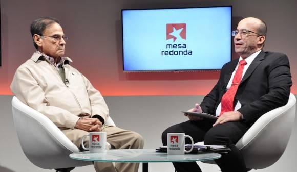 Alí Rodriguez Araque en la Mesa Redonda. Foto: Roberto Garaicoa/ Cubadebate
