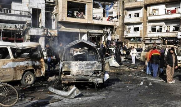 Imagen tomada después del atentado de hoy. Foto: EFE