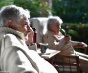 """José """"Pepe"""" Mujica y Lucía Topolansky en la resdiencia del embajador uruguayo en La Habana, 25 de enero de 2015. Foto: William Silveira Mora"""
