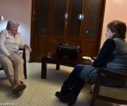 Lucía Topolansky es entrevistada por Arleen Rodríguez para la Mesa Redonda, 25 de enero de 2015. Foto: William Silveira Mora