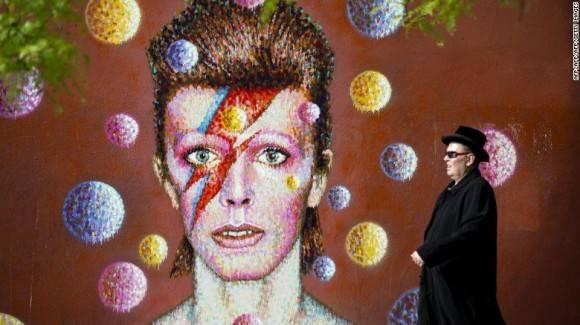 Mural inspirado en Bowie. Foto: James Cochran