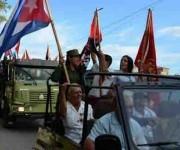Caravana de la Libertad integrada por nueva generación de cubanos que reeditan el paso por Camagüey de Fidel y su tropa. Cuba, 4 de enero de 2016. ACN FOTO/ Rodolfo BLANCO CUÉ