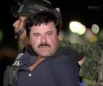 El Chapo conducido a prisión. Foto: Captura de la TV/ La Jornada