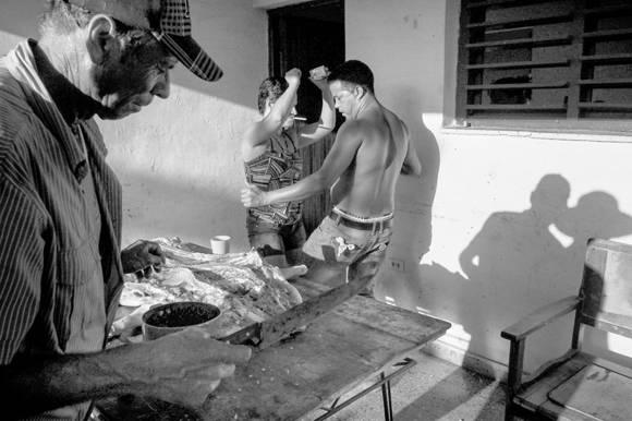 La fiesta de despedida a Julio cuando se fue a Miami. Foto: Fulvio Bugani