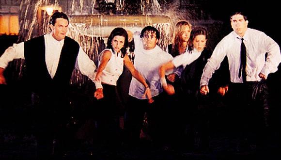 Protagonistas de la serie de televisión Friends.