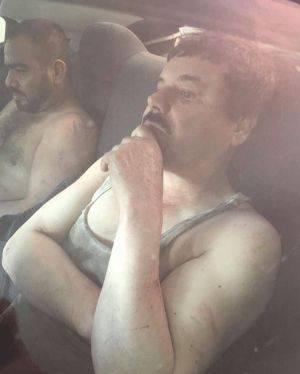 Una de las imágenes de El Chapo que circulan por la red. / TWITTER