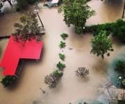 La calle Infanta inundada. Foto: Alejandra García.