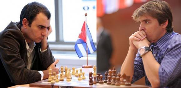 Leinier Domínguez y Lázaro Bruzón estarán en la última fase del campeonato nacional. Leinier tiene cuatro cetros, mientras que Bruzón lleva cinco.