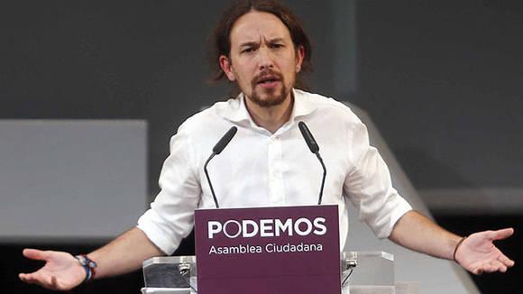 Podemos, con su líder Pablo Iglesias, se cuestiona el papel del PP y el PSOE al frente de la política española y lucha por los derechos del ciudadano. Foto tomada de El Confidencial.
