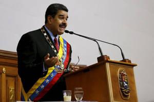 Nicolás Maduro en la rendición de cuentas anual al pueblo venezolano. Foto: Reuters.