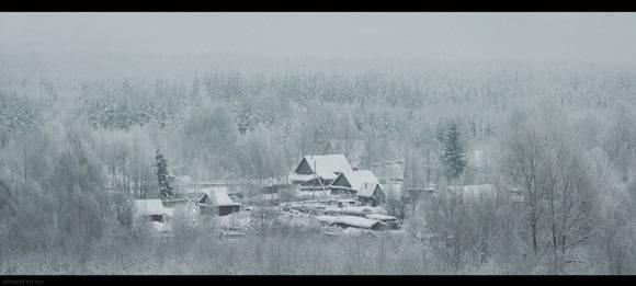 Cuando llega el invierno todo se torna blanco.