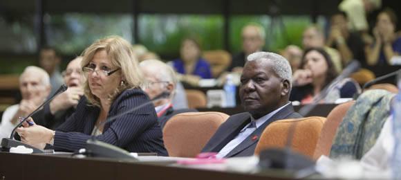 Esteban Lazo, presidente del Parlamento cubano, participa en Conferencia Magistral de Pepe Mujica. Foto: Ismael Francisco/Cubadebate.