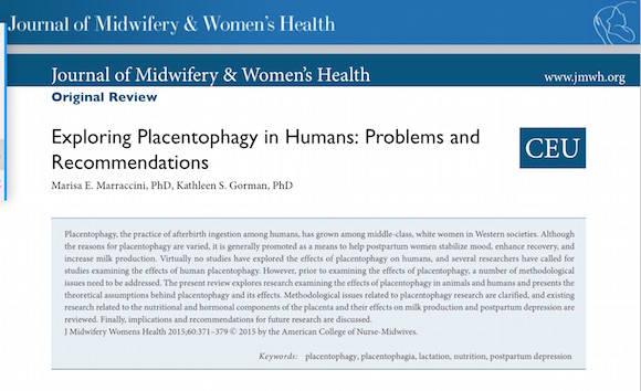 placentofagia