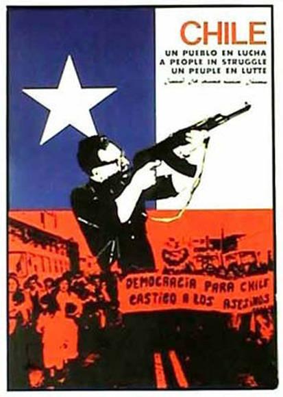 Cartel en solidaridad con Chile.