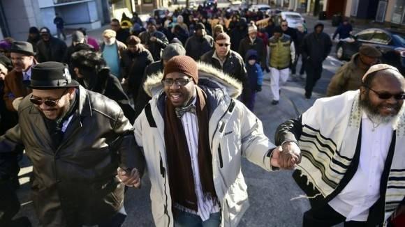 Protestas en EEUU este lunes. Foto: AP