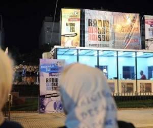 La fachada del edificio de la radio de las Madres de Plaza de Mayo (Radio Madre - AM 530) fue agredida.