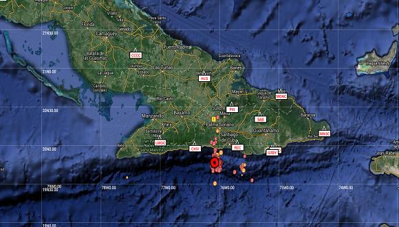El sismo se produjo a a 28 kilómetros al suroeste del municipio de Caimanera en la provincia de Guantánamo. Foto: Cubadebate.