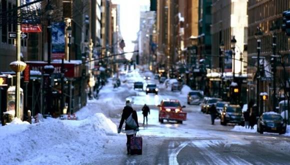 La ciudad de Nueva York empieza a recuperarse tras la histórica tormenta. Foto: AFP