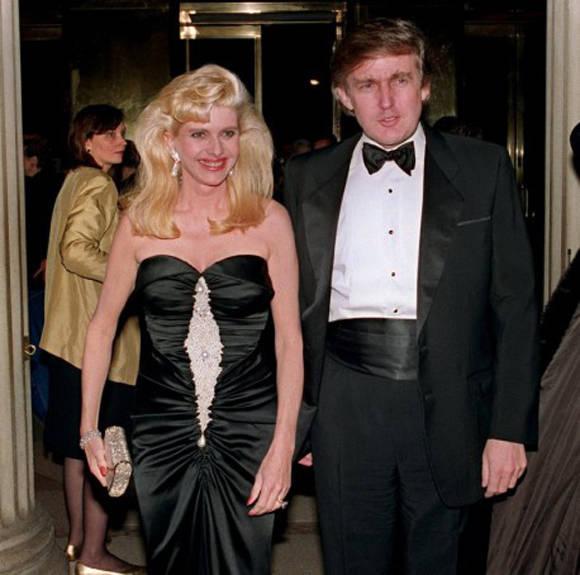 Trump y su esposa checoslovaca, Ivana.